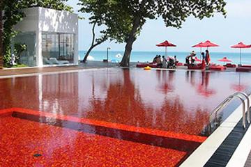 Бассейн в отеле курорта Library в Таиланде